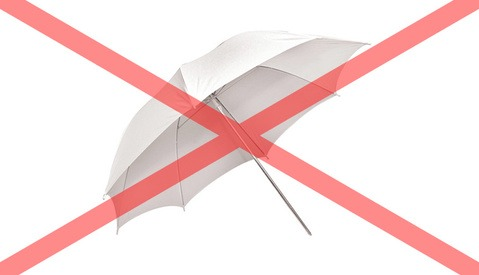 Why I Don't Use Umbrellas as Photography Light Modifiers