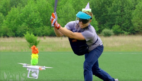 A Drone Piñata Is Every Bit as Funny as You'd Expect