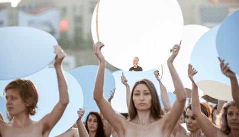 100 Women Pose Nude in Art Installation [NSFW]