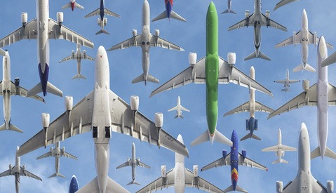 Mike Kelley's Composite Photos of Planes Are Fascinating and Beautiful