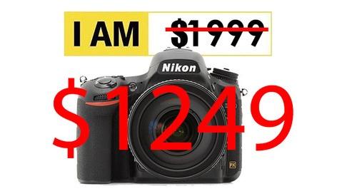 Crazy Deal: Get a Nikon D750 DSLR Camera for $1249