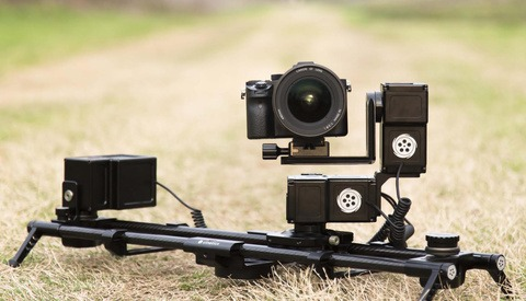 Promediagear takes their dual curved straight slider to for Motorized camera slider timelapse