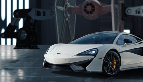 Reaching for the Stars with a McLaren - A Different Take on Automotive Compositing