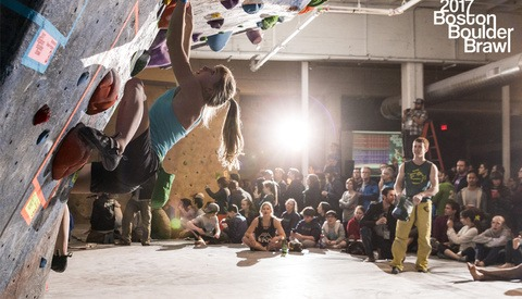 Photographing an Indoor Rock Climbing Boulder Competition