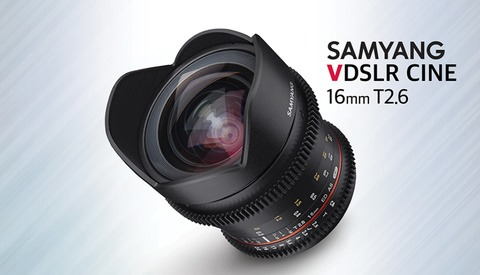 Samyang Introduces VDSLR 16mm T2.6 Wide-Angle Cine Lens