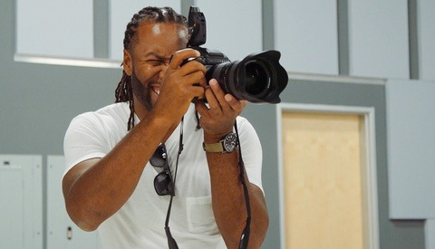Future NFL Hall of Famer Larry Fitzgerald Dives into Family Portrait Photography