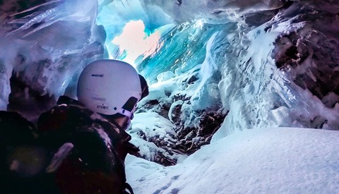 Skier Falls Into a Crevasse and Documents It With a GoPro