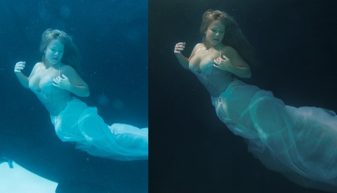 Color Correction and Helpful Tips For Underwater Boudoir Editing