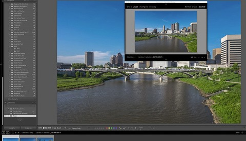 Using the Lightroom Second Reference Window to Compare Images
