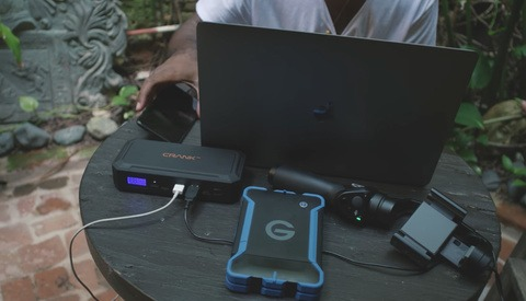 The Crank Juice Box: Portable Power Charger for Your Camera Accessories, Laptop, and Even Your Car