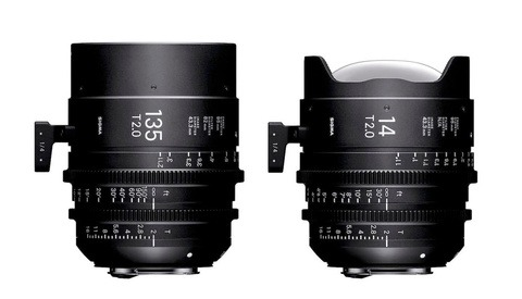 Sigma's 14mm T2 FF and 135mm T2 FF Cine Lenses Are Now Available for Purchase
