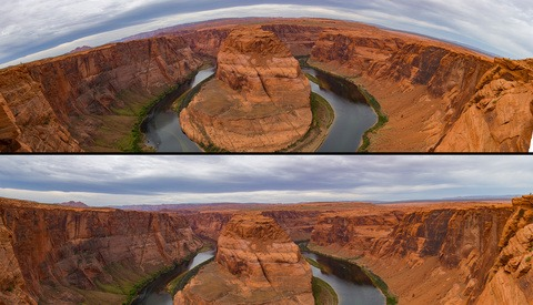 A Quick Fix for Correcting Distortion in Stitched Panoramas