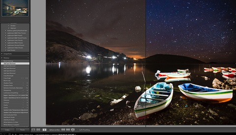 Before and After: Rowboats on Lake Titicaca