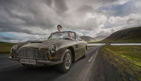 Brilliant Photographer Photoshops His Son and Himself Driving an Aston Martin in Iceland