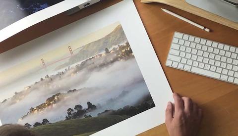 print on computer desk