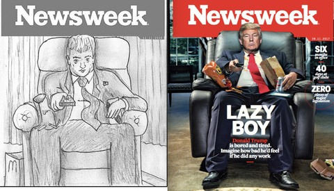 C.J. Burton Reveals How He Created His Viral Donald Trump Cover for Newsweek