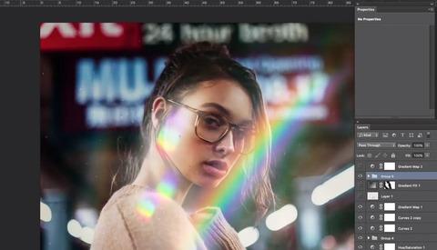 Add a Prism Rainbow Light Using Photoshop