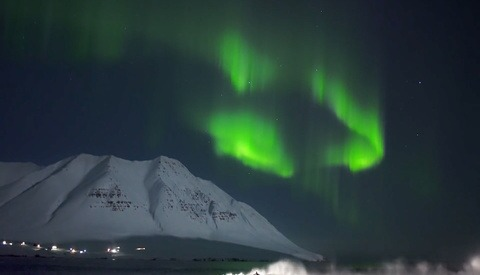 A Look Behind the Scenes of an Arctic Aurora Surfing Film