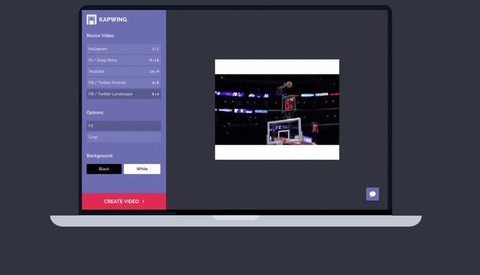 An Online Video Resizer for Instagram: Kapwing
