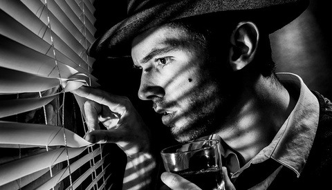 Shooting Film Noir Portraits Inside the Studio Space