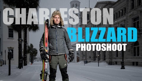The Charleston Snow Photoshoot