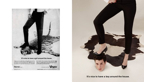 Recreating Vintage Ads to Reverse Gender Roles
