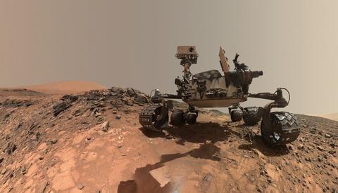 Curiosity Rover's Galactic Selfie