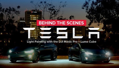 Using a DJI Mavic Pro to Light Paint a Tesla