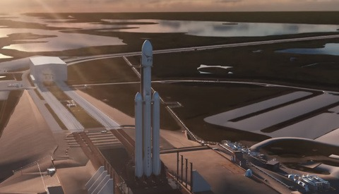 Watch Falcon Heavy Rocket Launch Live Right Now