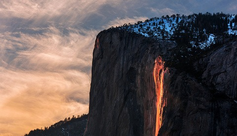 Yosemite Requiring Permits for February's Horsetail 'Firefall' Event