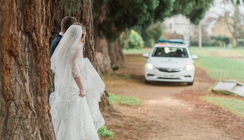 Couple's Wedding Shoot Crashed by a Police Chase