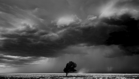 A Black and White Thunderstorm Time-Lapse That's as Ominous as It Is Magnificent