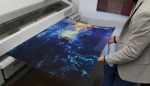 Behind the Scenes for Selling Large Wall Art Using Samples