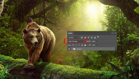 Advanced Control of Layers in Photoshop With the 'Pass Through' Trick