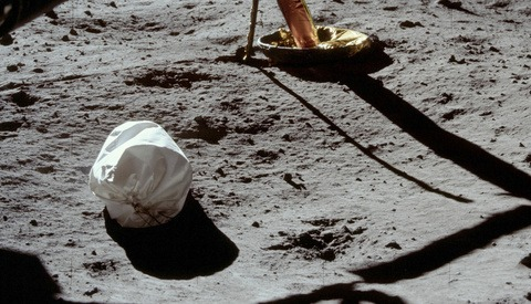The First Photograph Taken on the Moon by Neil Armstrong Featured a Trash Bag