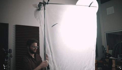 Got a Shower Curtain? Use It to Make a Beautiful Light Modifier for Your Photo and Video Work