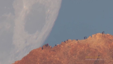 Telephoto Lens Video Shows Moon Appearing to Move at Rapid Pace