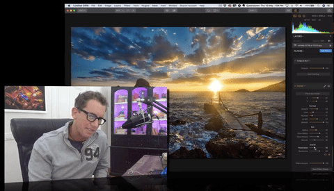 Making the Sun Pop With Luminar 2018