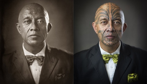Cultural Tattoos Invisible in Wet Collodion Prints