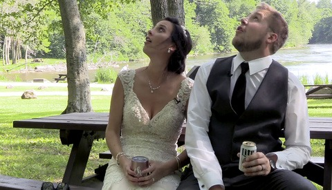 Videographer Captures Couple Narrowly Escaping Falling Tree Branch, Includes It in Wedding Video