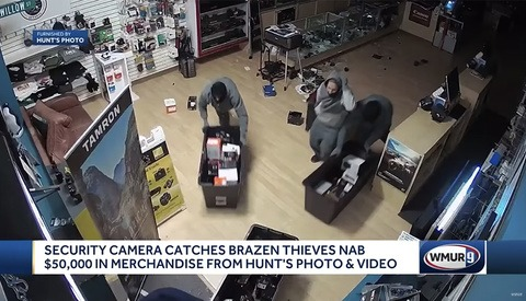 Security Footage Shows Thieves Stealing $50,000 of Camera Equipment in Less Than a Minute