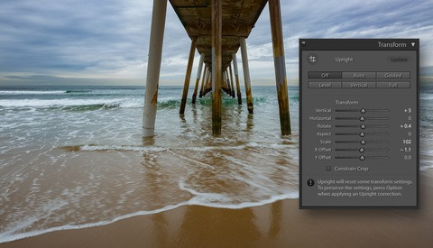 More Effective Cropping and Alignment Using Transform in Lightroom