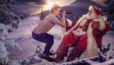 Santa's Photographers Get a Jump on Spreading Happiness and Joy to Hospitalized Children
