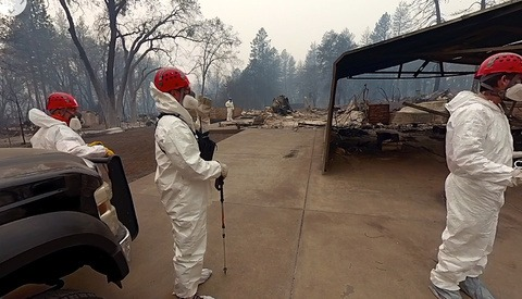 Harrowing 360-Degree Footage of California Camp Fire Aftermath