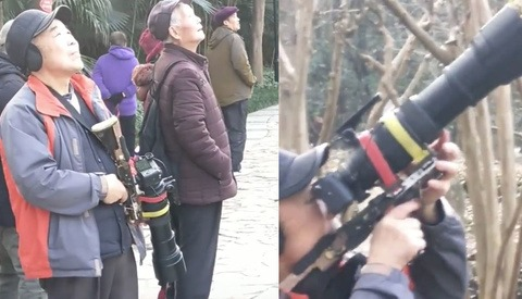 Photographer Mounts Camera to Gun Stock to Shoot Birds