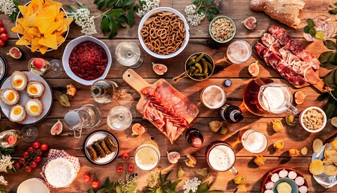 Five Tips for Photographing Large Food Flat Lays