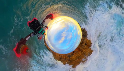 Surreal Insta 360 X Drone Video Captures the Portugal Coast and Alps Mountains