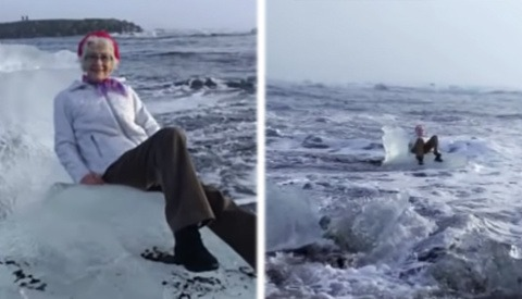 Grandmother Swept Out to Sea After Posing for Picture on 'Ice Throne'