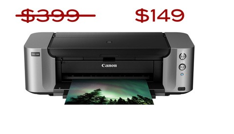 "Get a Canon PIXMA Pro Printer and 50 Sheets of 13""x19"" Paper for $149 - Limited Time Offer"
