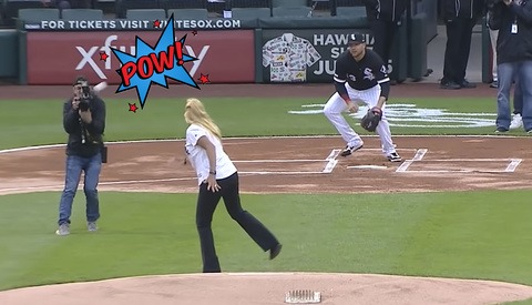 White Sox Photographer Has Trouble With the Curve, Gets Smoked by the Opening Pitch